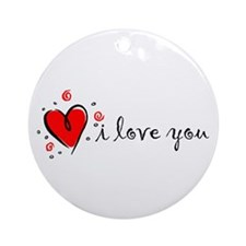 """I Love You"" [English] Ornament (Round)"