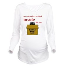 Inside-the-Box-3A-TR Long Sleeve Maternity T-Shirt