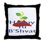 Happy Tu B'Shvat Throw Pillow