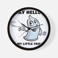 condom pin.gif Wall Clock