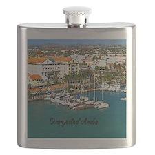 Oranjestad Marina Aruba11x11 Flask