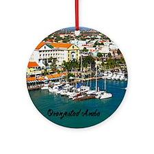 Oranjestad Marina Aruba11x11 Round Ornament