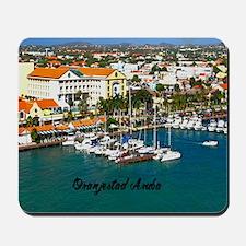 Oranjestad Marina Aruba5.25x5.25 Mousepad