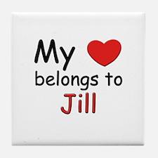 My heart belongs to jill Tile Coaster