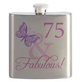 75th birthday Flask Bottles