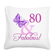 Fabulous_Plumb80 Square Canvas Pillow