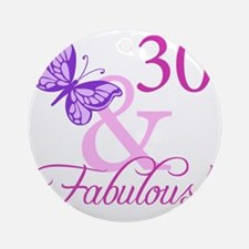 Fabulous_Plumb30 Round Ornament