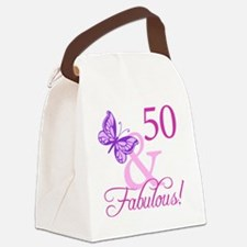 Fabulous_Plumb50 Canvas Lunch Bag