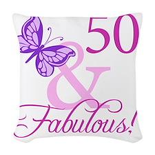 Fabulous_Plumb50 Woven Throw Pillow
