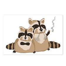 Smoking Raccoons Postcards (Package of 8)