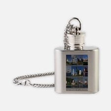 Lake Huron 9x12 Flask Necklace