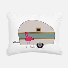 Camper with Flamingo Rectangular Canvas Pillow