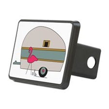 Camper with Flamingo Hitch Cover