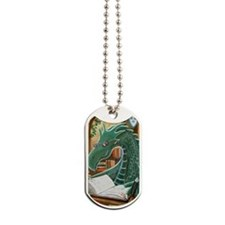 Library Dragon Dog Tags