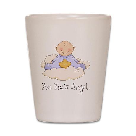 Yia Yias angel boy Shot Glass