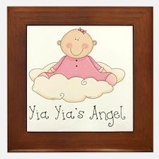 yia yias angel girl Framed Tile