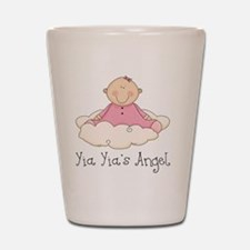 yia yias angel girl Shot Glass