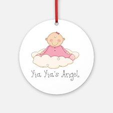 yia yias angel girl Round Ornament