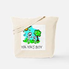 yia yias boy stick figure Tote Bag