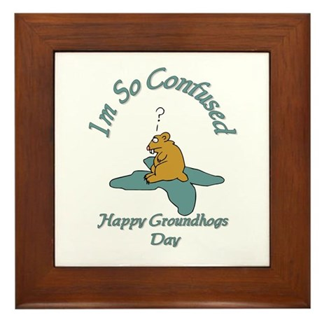 ground hogs day Framed Tile