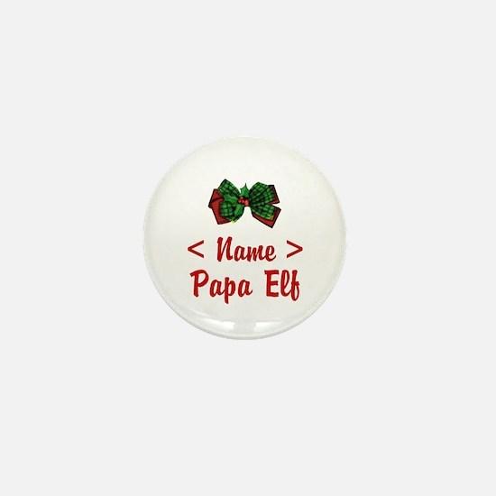 Personalized Papa Elf Mini Button