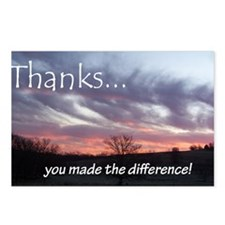 3275card-thanks Postcards (Package of 8)