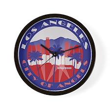LA City of Angels patriot Wall Clock