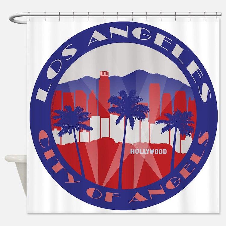 LA City of Angels patriot Shower Curtain