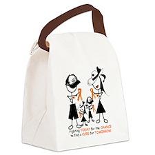 Luekemia Awareness Canvas Lunch Bag