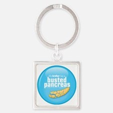 brother Square Keychain