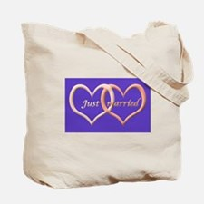 Just Married (love hearts)  Tote Bag