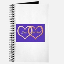 Just Married (in love hearts) Journal