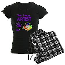 01-yes-im-an-artist-brush-n- Pajamas