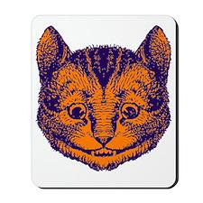 Cheshire Cat Purple Orange Mousepad