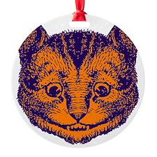 Cheshire Cat Purple Orange Ornament