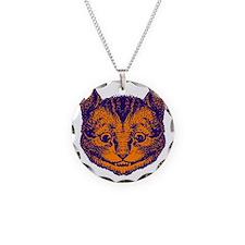 Cheshire Cat Purple Orange Necklace