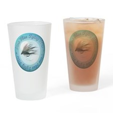 time_flies_tying_flies Drinking Glass