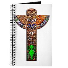 Totem Pole Texture Large Framed Print Journal
