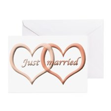 Just Married Greeting Cards (Pack of 6)