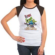 2-zombz_all_trouble_v2 Women's Cap Sleeve T-Shirt