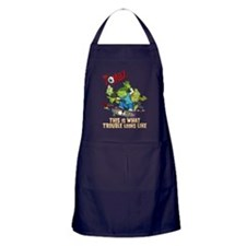 2-zombz_all_trouble_v2 Apron (dark)