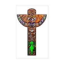 Totem Pole Texture Art Large P Decal