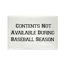Baseball Season Rectangle Magnet
