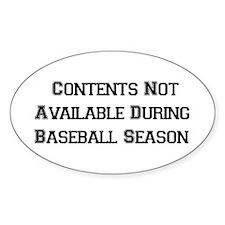 Baseball Season Oval Decal