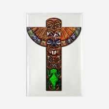 Totem Pole Texture Art Note Card Rectangle Magnet
