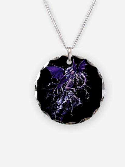 Purple Dragon Fairy Necklace