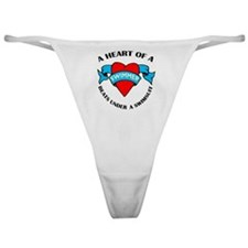 Heart of a Swimmer tattoo Classic Thong