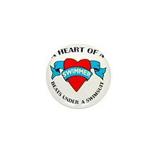 Heart of a Swimmer tattoo Mini Button