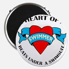 Heart of a Swimmer tattoo Magnet