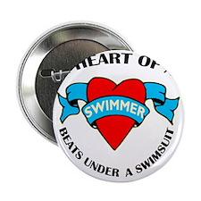 "Heart of a Swimmer tattoo 2.25"" Button"